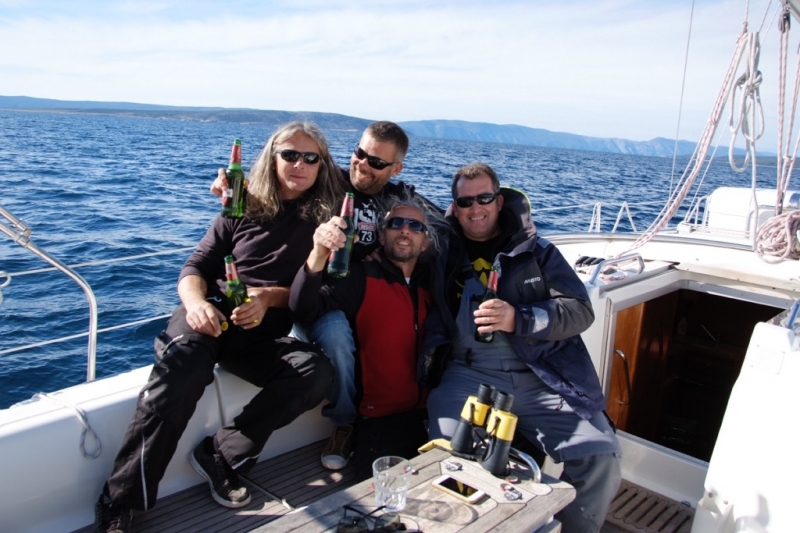 The winning crew on boat Maestral